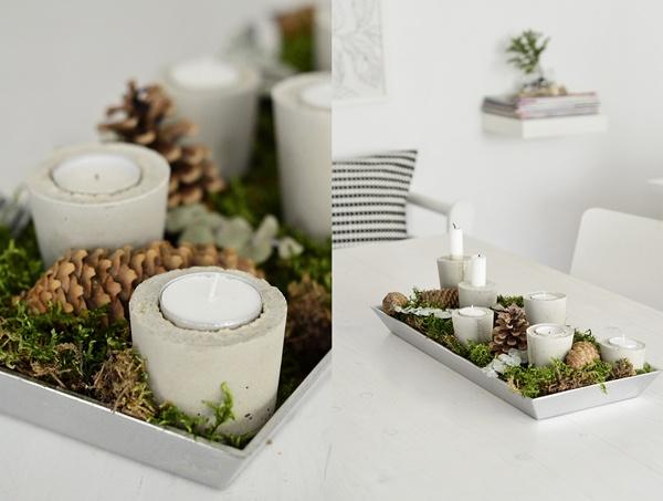 Kerzenhalter aus Beton selbergießen
