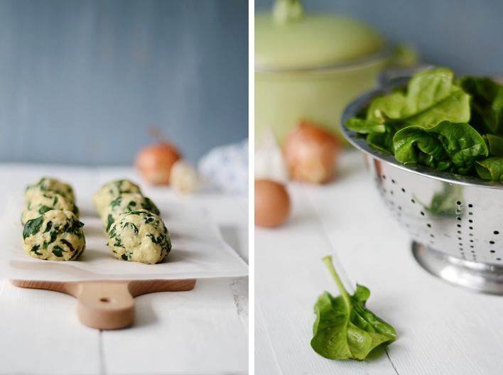 Rezept: Südtiroler Spinatknödel mit Gorgonzola Sauce