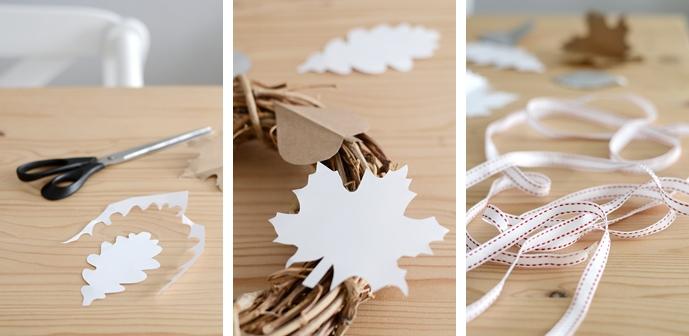 Basteln im Herbst: DIY Blätterkranz aus Papier