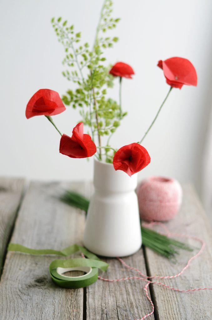 DIY Mohnblüten