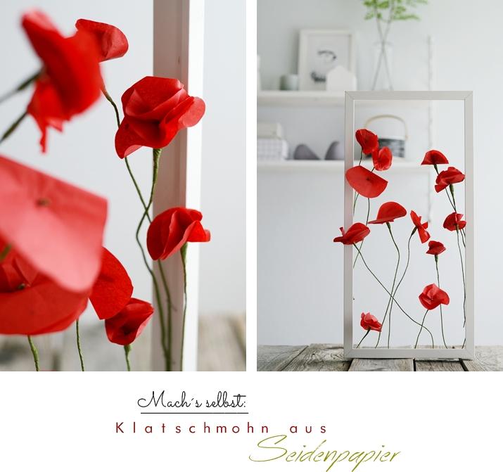 DIY Mohnblüten aus Seidenpapier
