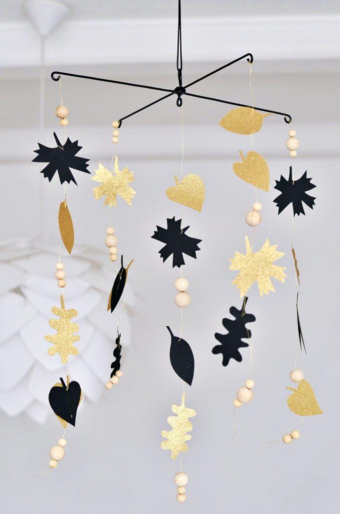 DIY Herbstblätter Mobile