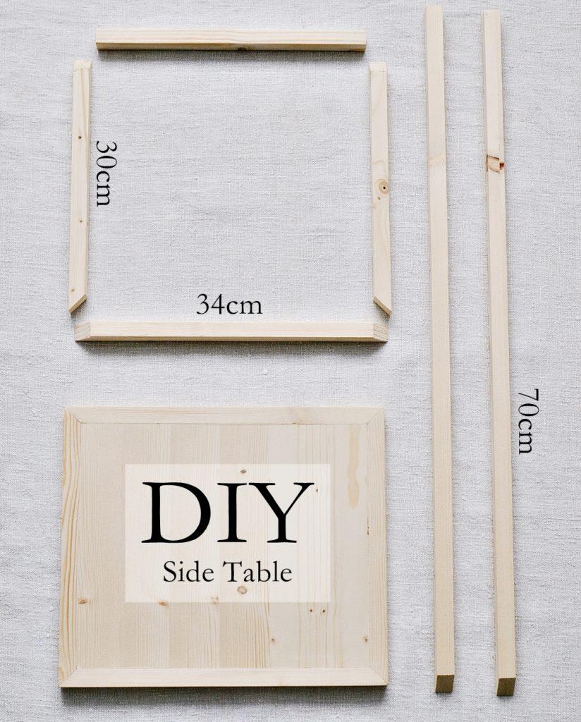 DIY Beistelltisch Material