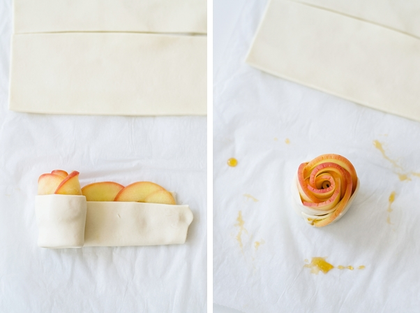 Anleitung für Apfelrosen