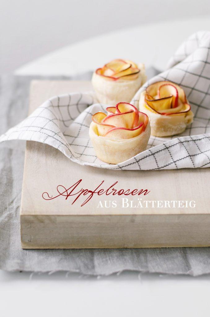 Apfelrosen aus Blätterteig