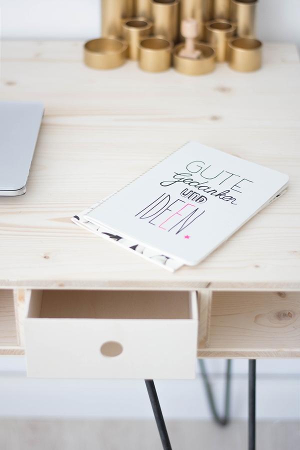 Diy Schreibtisch ein schreibtisch zum selberbauen sinnenrausch der kreative diy