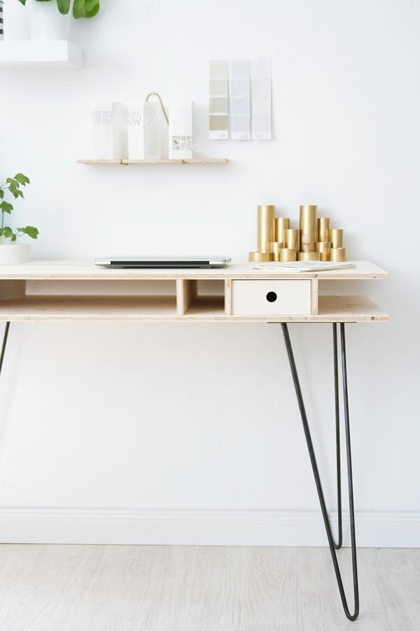 Ein Schreibtisch zum Selberbauen – Sinnenrausch - Der kreative DIY