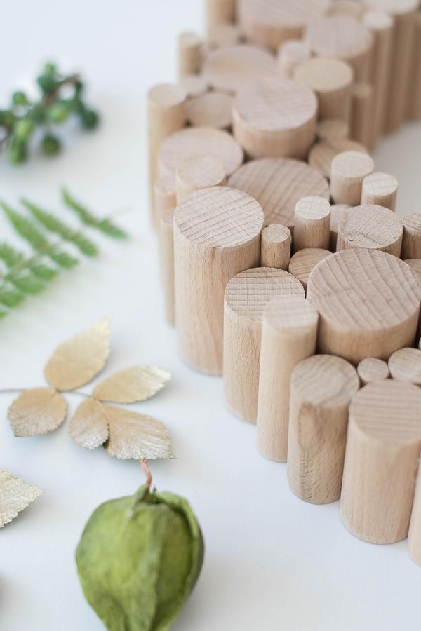 Holzkranz aus Rundstäben