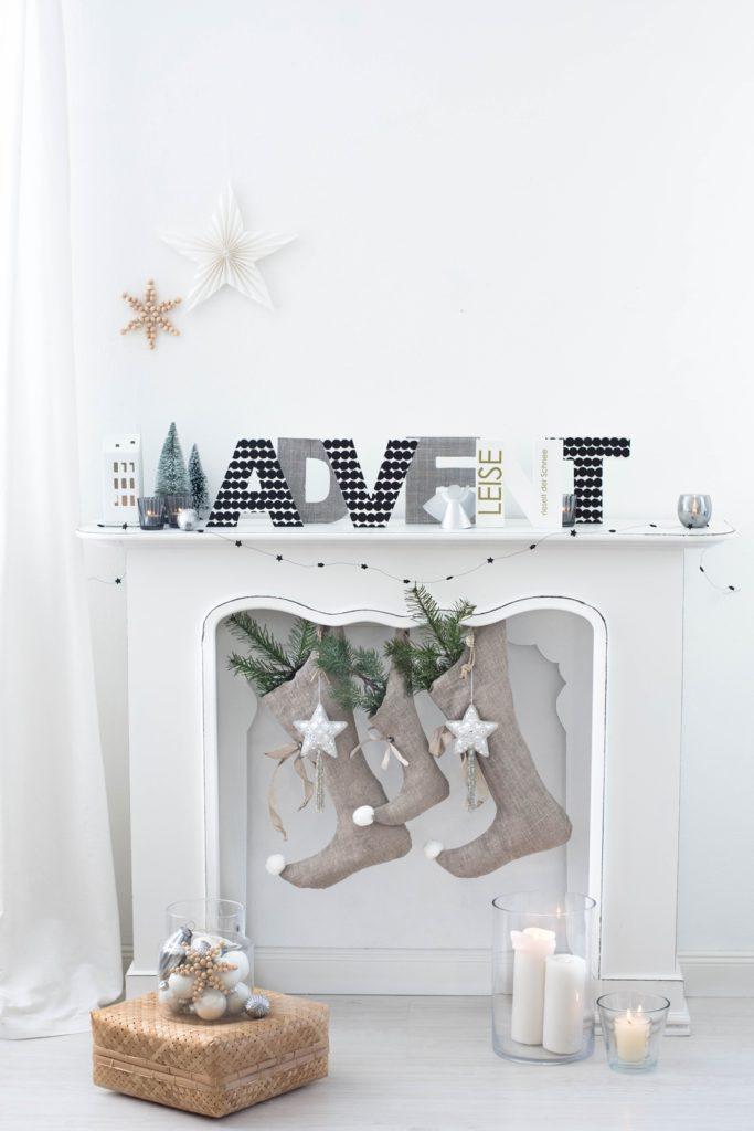 DIY Advent Buchstaben aus Holz