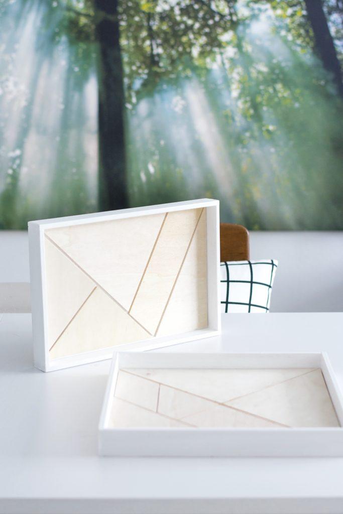DIY Tangram Holz Tablett