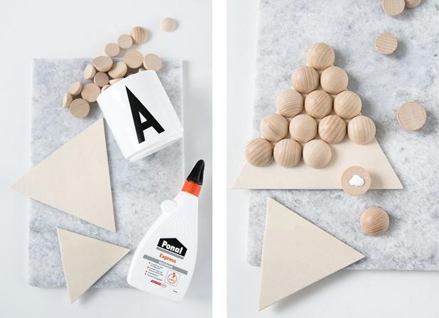 DIY Quickie Untersetzer aus Holzkugeln