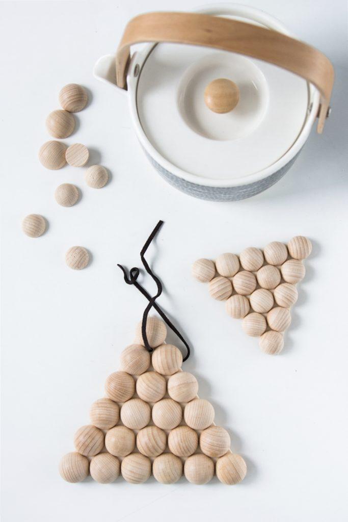 DIY Halb-Holzkugeln Untersetzer