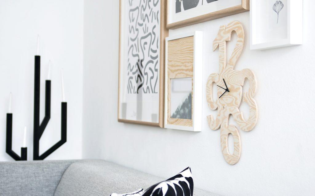 DIY Wanduhr aus Holz