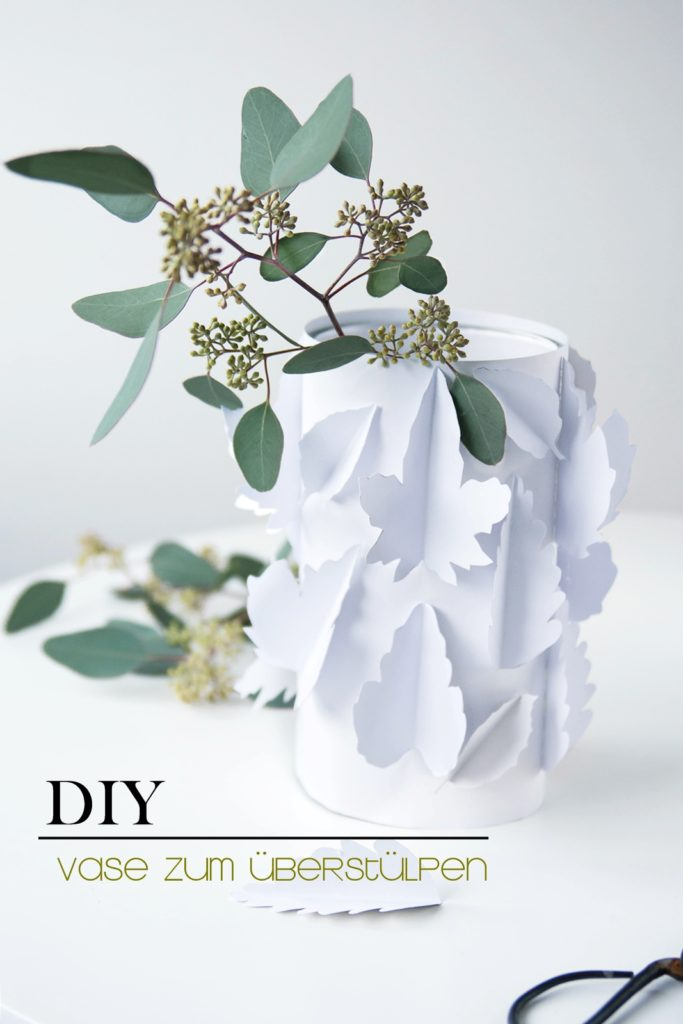 DIY Quickie: Papiervase zum Überstülpen