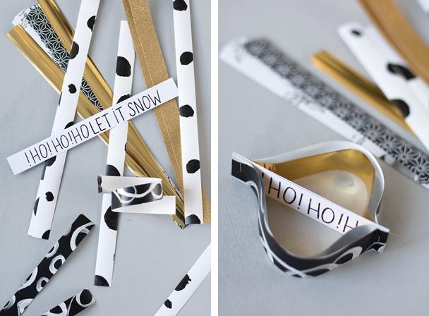 DIY Ornamente aus Papierstreifen