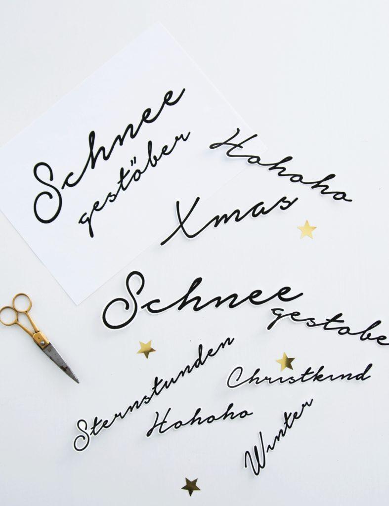 DIY Typoanhänger Weihnachten