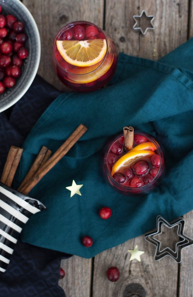 Alternative zum Glühwein: Cranberry Grog
