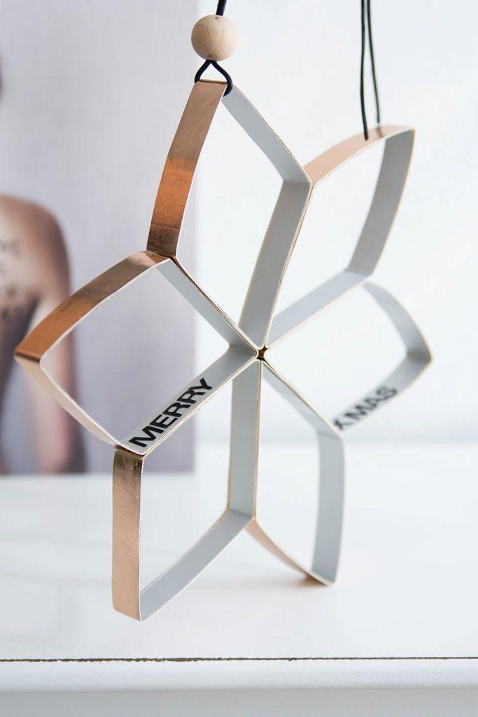 DIY recycelter Kufperstern