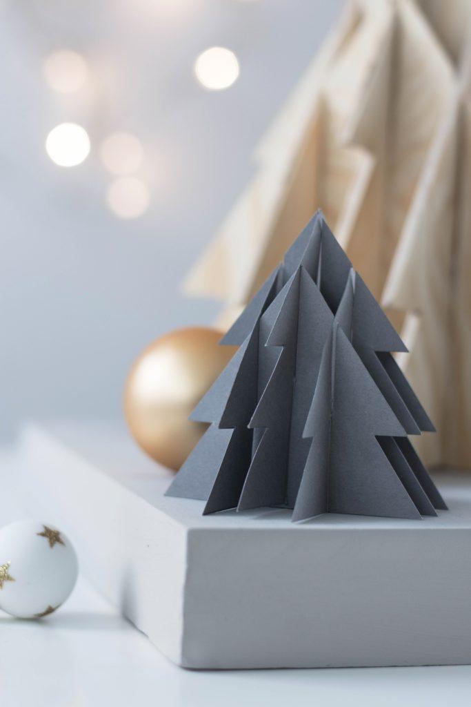 3-D Tannenbaum aus Papier