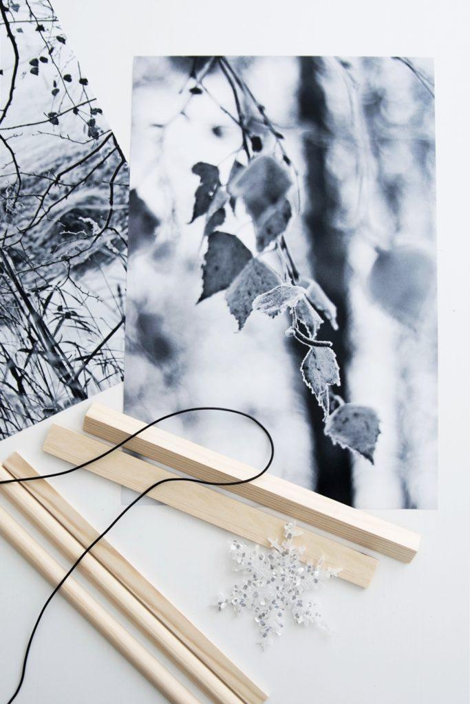 Bilderleiste mit halbrunden Holzleisten #sinnenrauschAdventskalender