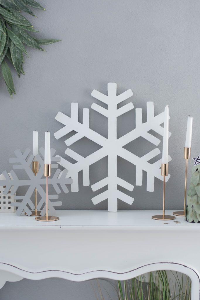 DIY Schneeflocke aus Holz