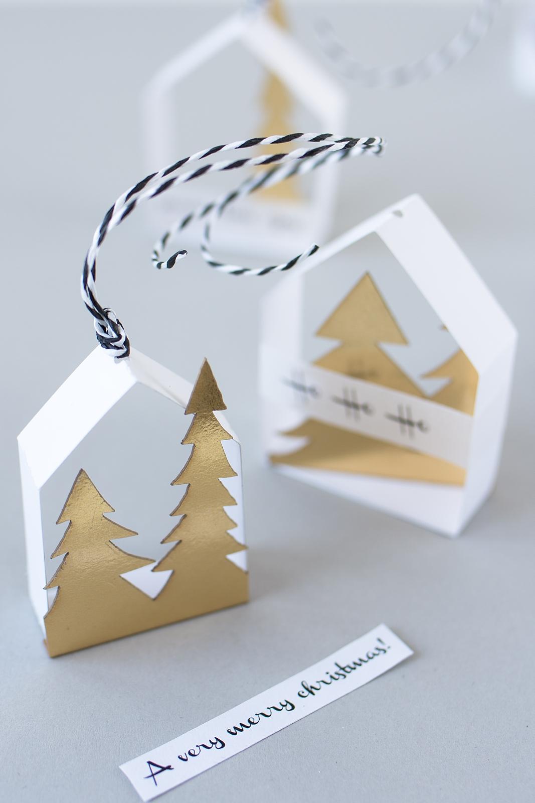 Zarte Papierhäuschen Als Baumschmuck Selbermachen.   Sinnenrausch   Der  Kreative DIY Blog Für Wohnsinnige Und Selbermacher