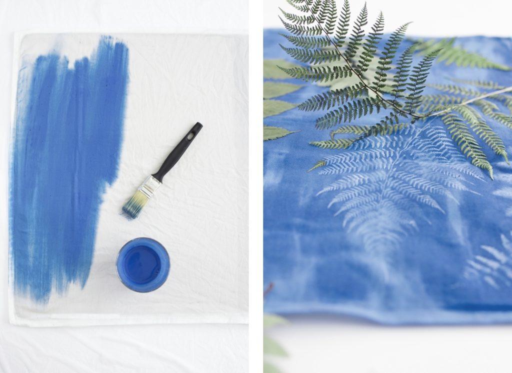 DIY Sunprint - Wie du mithilfe der Sonne ganz einfach tolle Muster auf Stoff druckst
