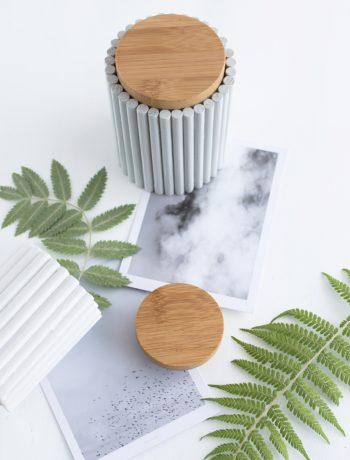 Upcyclingidee: Kleines Vasen Makeover Mit Rundhölzern