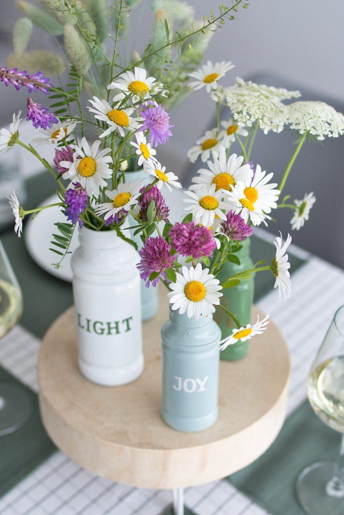 DIY: Upcycling Vasen für den Sommertisch #werbung #kotanyi #kotanyimoments
