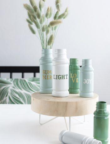 Upcyclingidee Für Den Sommerlich Gedeckten Tisch: Deko Vasen Aus  Gewürzgläsern
