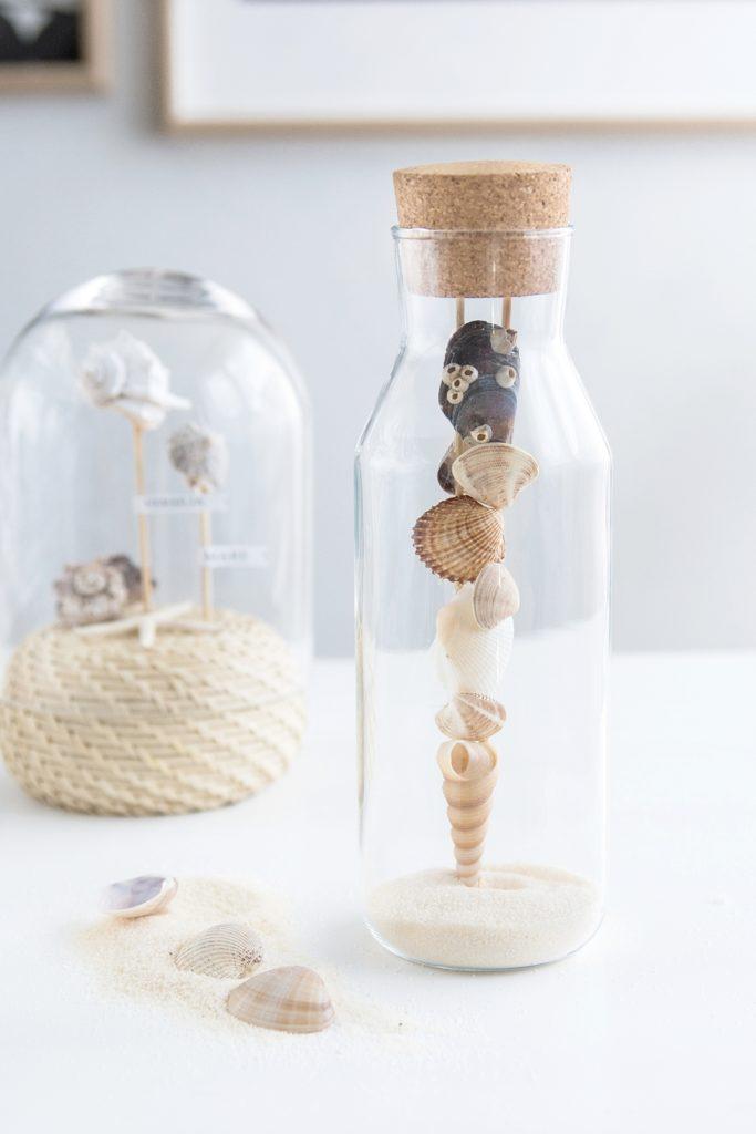 DIY: Maritime Deko unter der Glashaube + Mini IKEA Hack #diy #ikea #sinnenrauschDIY