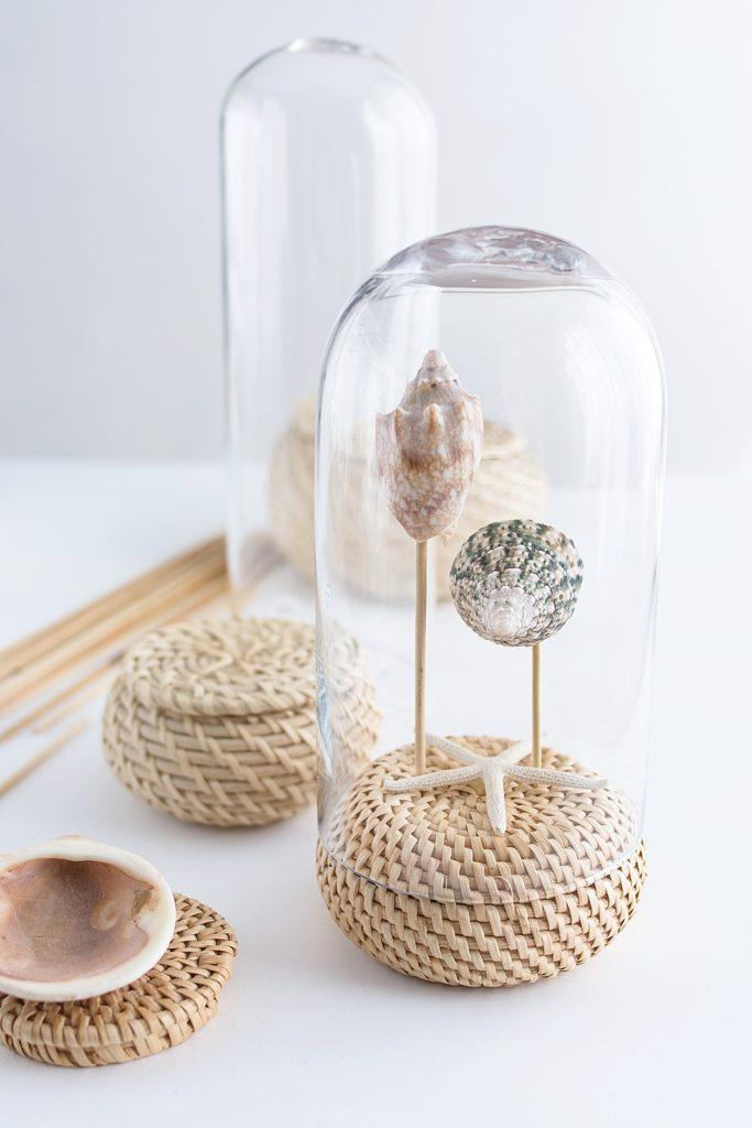 DIY: Maritime Deko unter der Glashaube + Mini IKEA Hack