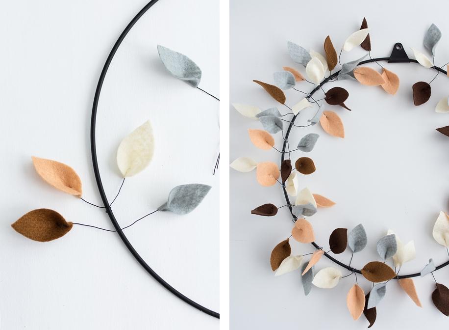 DIY im Herbst: Strups Metallring mit Blättern aus Filz #sinnenrauschDIY
