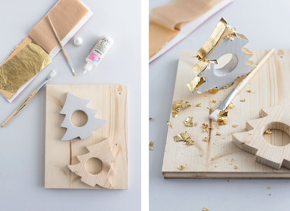 DIY: Weihnachtliche Teelichhalter aus Holz basteln