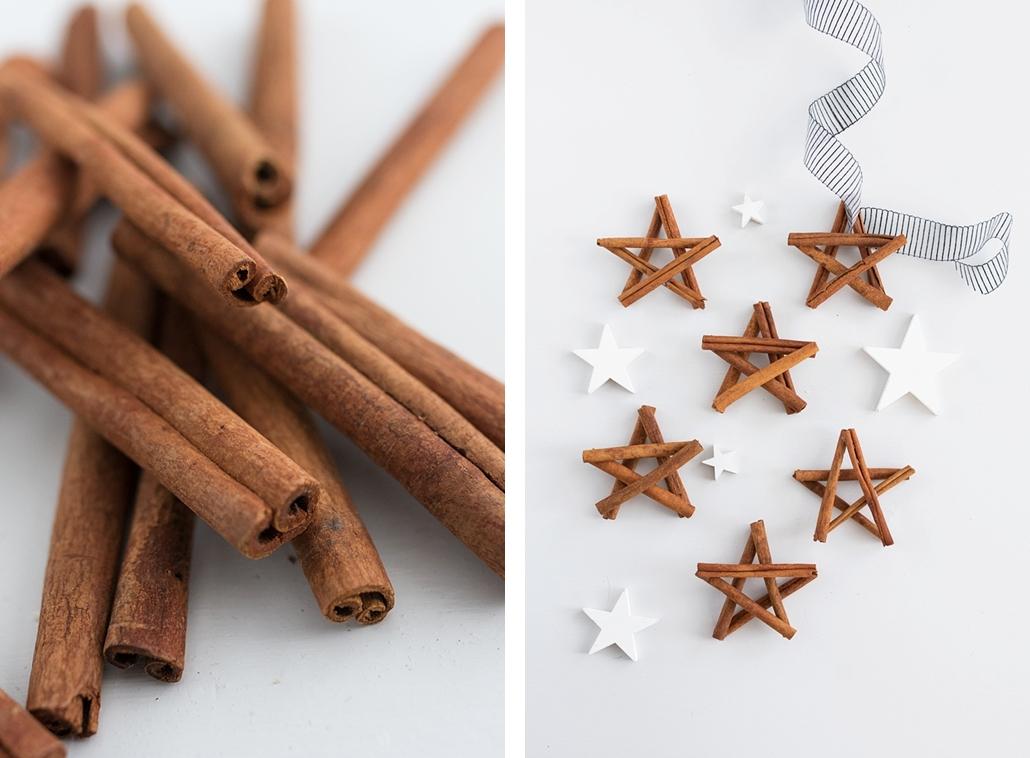 Weihnachtliches DIY: Zimtsterne als Tischdeko oder Weihnachtsbaum-Anhänger