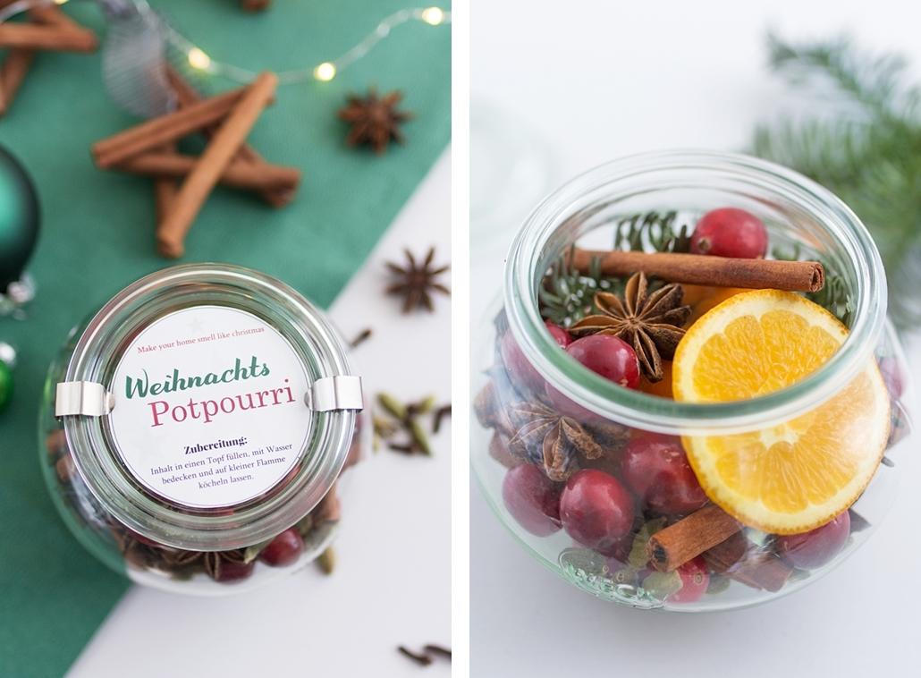 Das schönste Gastgeschenk im Advent und gleichzeitig natürlicher Lufterfrischer mit Weihnachtsduft: DIY Weihnachtspotpourri