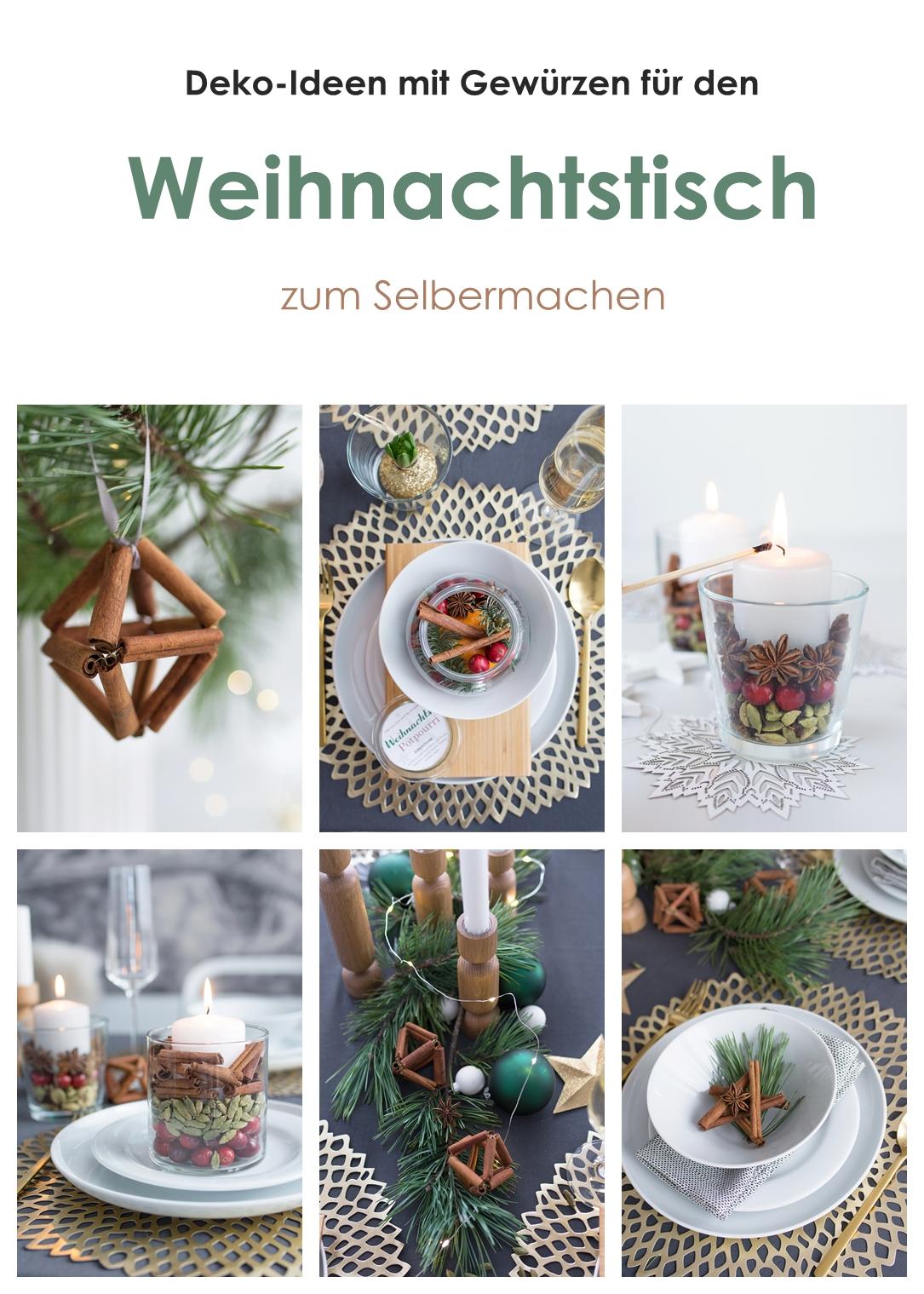 Deko-Ideen mit Gewürzen für den Weihnachtstisch zum Selbermachen