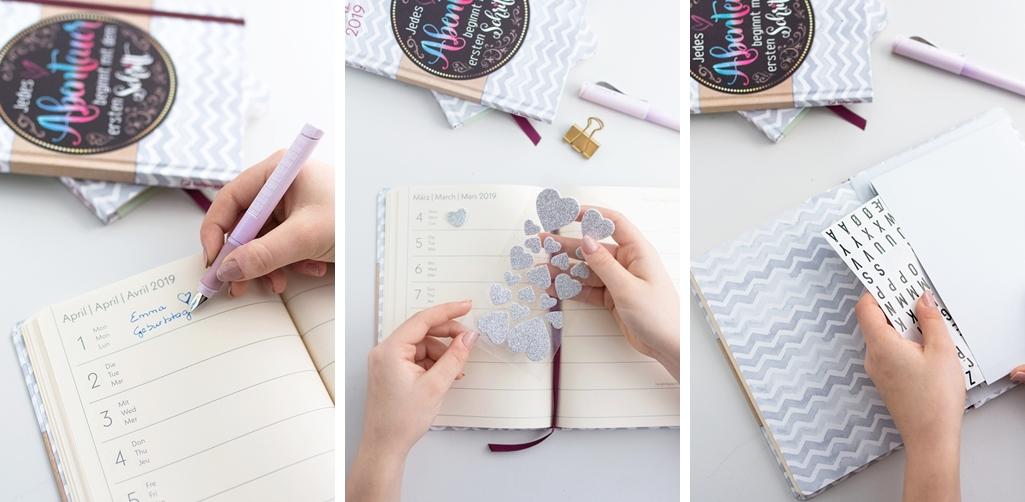 Handlicher Lettering Taschenkalender von teNeues für alle Termine, Pläne und Ideen