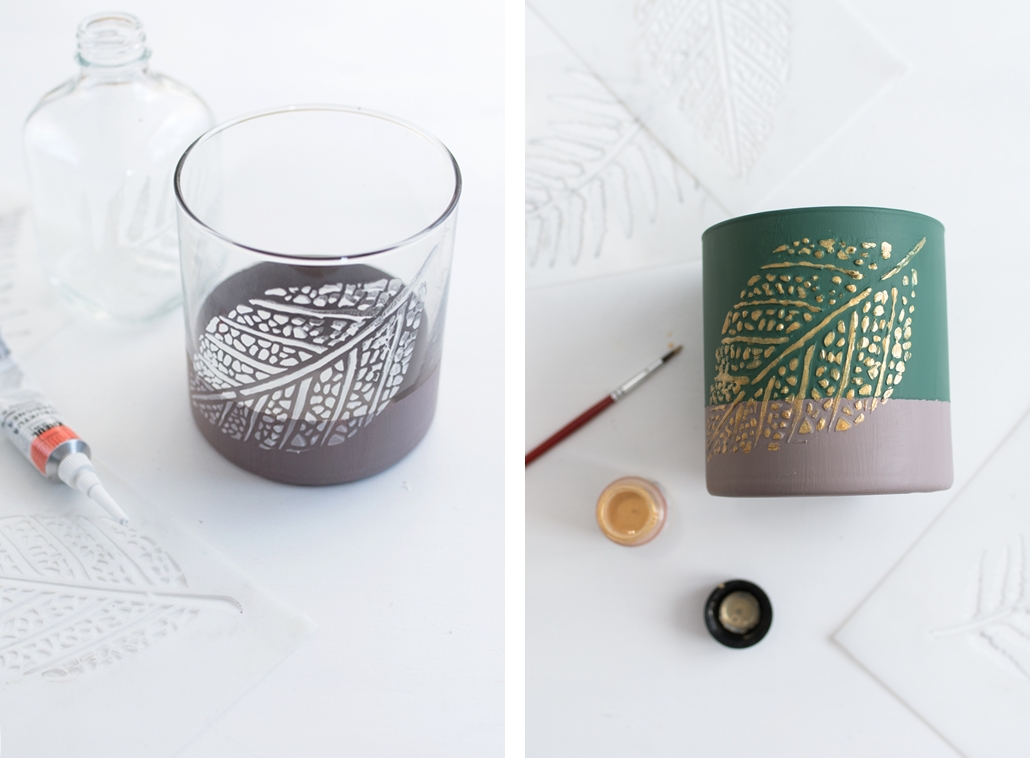 DIY Weihnachtsgeschenk: Stilvolle Struktur-Vasen mit Kreidefarbe und Strukturpaste