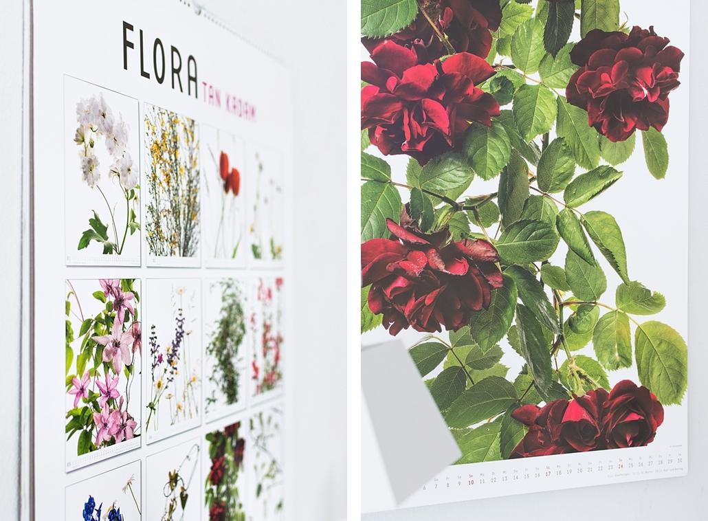 Dekorativ und praktisch: Der große Blumenkalender FLORA im Posterformat von DUMONT