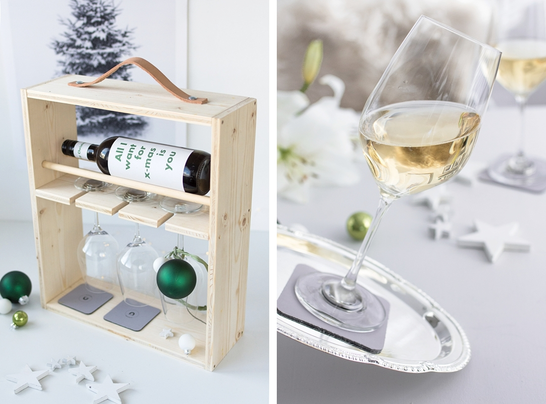 Geschenkideen für Männer: Rutschfeste Magnetgläser von silwy magnetic drinkware und ein selbstgebautes Weinregal