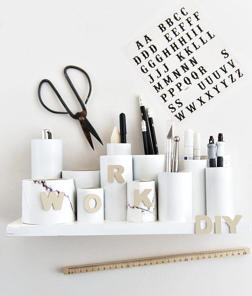 DIY: Praktisches Kreativ-Utensilo für den Schreibtisch #sinnenrauschDIY