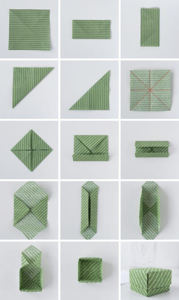 DIY: Einfache Origami Schachteln aus Stoff #sinnenrauschDIY