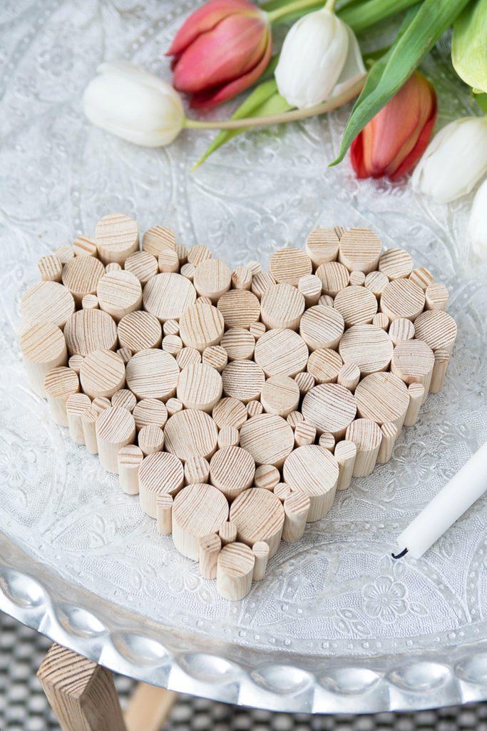 Valentinstags DIY: Herz aus Rundstäben #sinnenrauschDIY