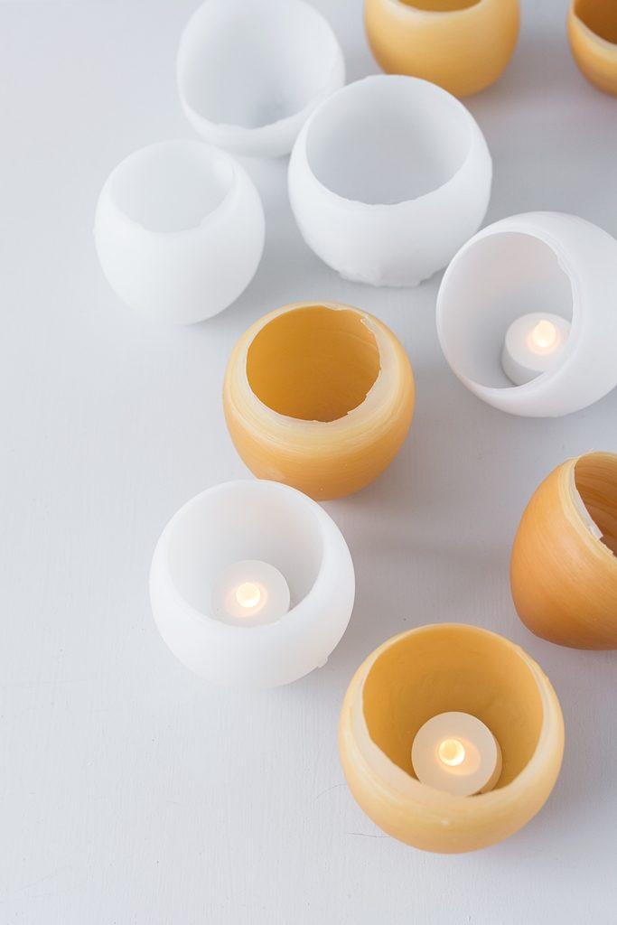 So gießt du wunderschöne, filigrane Windlichter aus Kerzenresten und Luftballons.