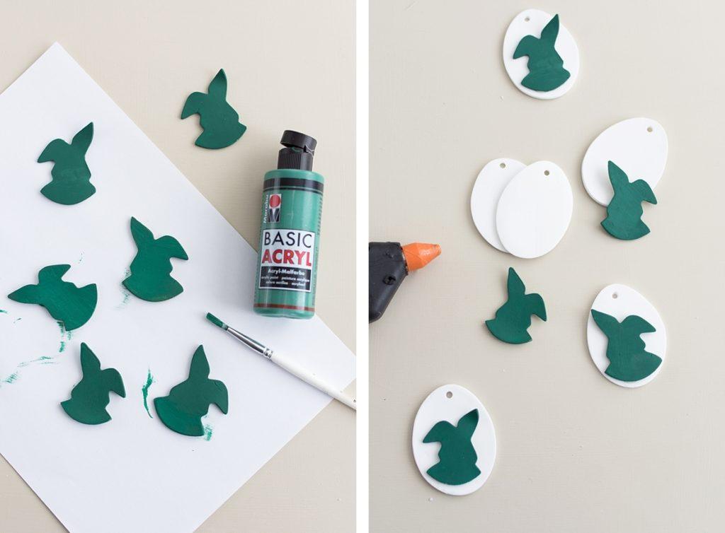 DIY: Schnelle Osteranhänger aus Modelliermasse selbermachen #sinnenrauschDIY #osterdeko #diy