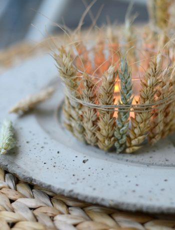 DIY Windlicht aus Getreideähren