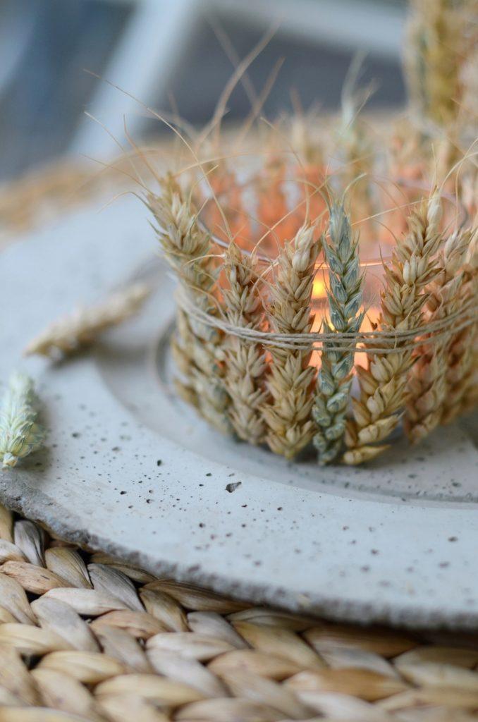 Schnelle DIY Deko-Idee: In allen Ähren - Windlicht mit Getreide