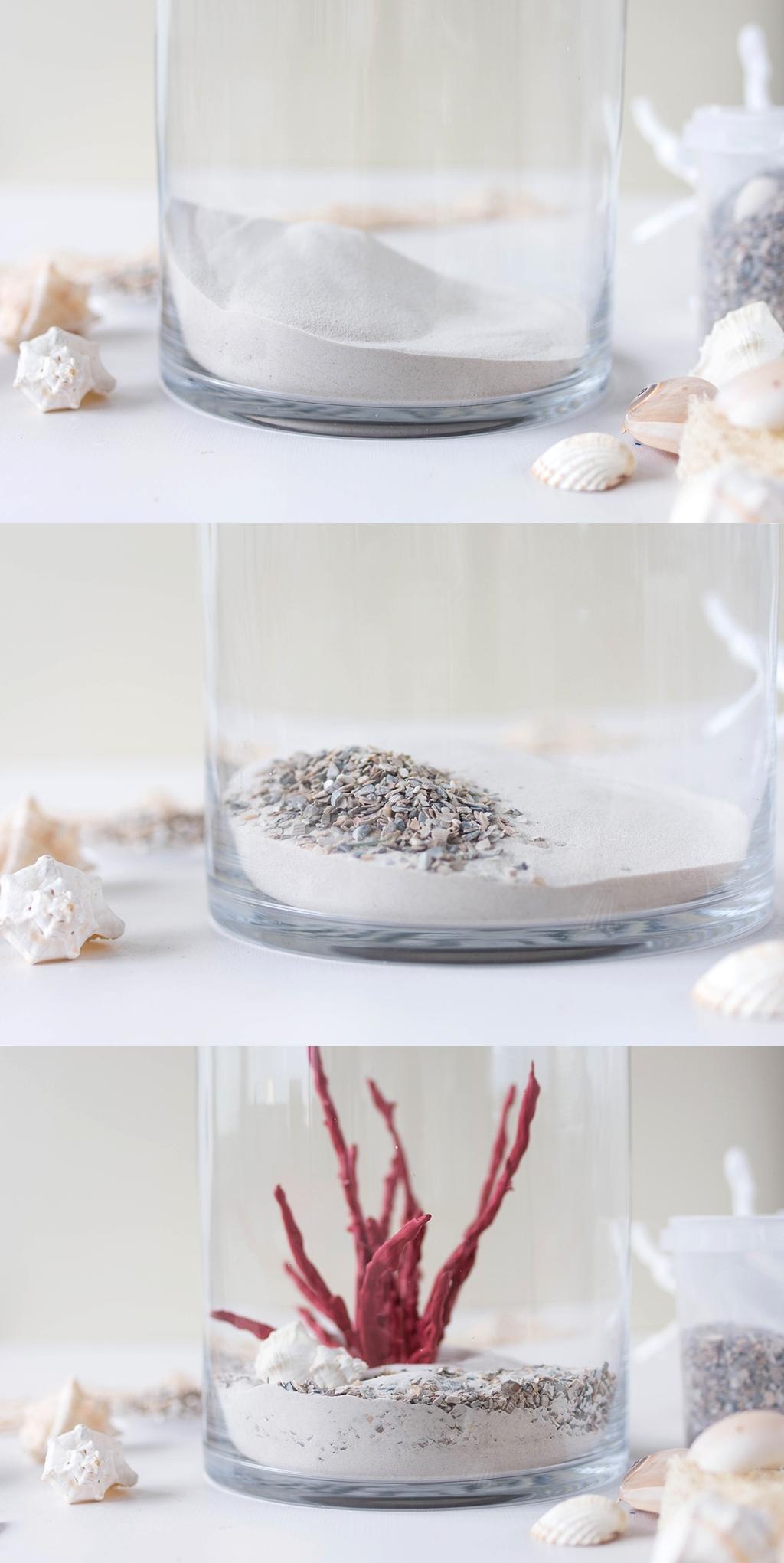 DIY | Einfache Deko-Korallen aus Heißkleber und Draht