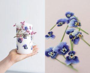 DIY Muttertag Kerze Blumen